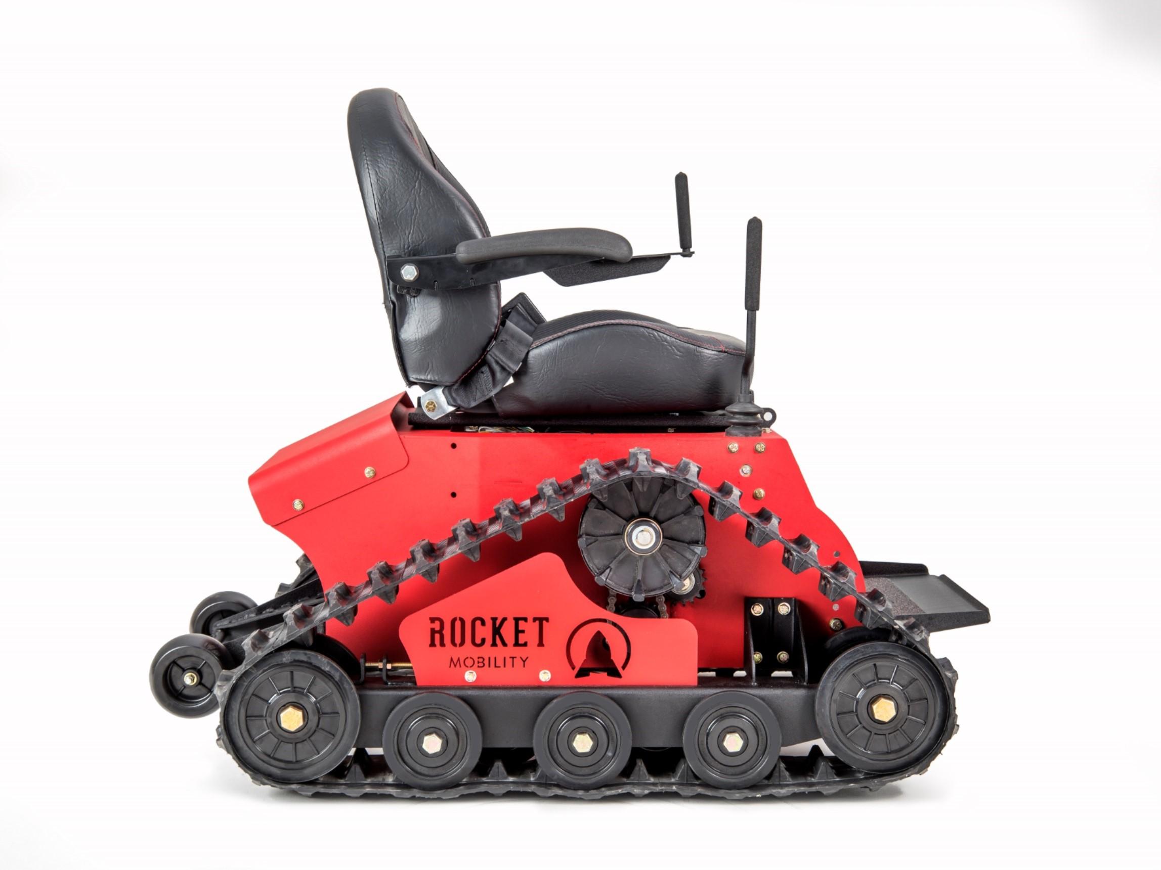 Red tomahawk all terrain wheelchair side all terrain for All terrain motorized wheelchairs